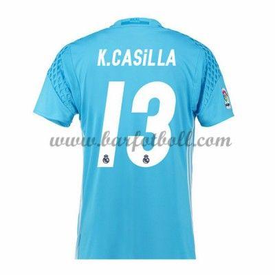 Real Madrid Fotbollströja 2016-17 Casilla Målvakt Hemma Tröjor