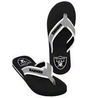 Oakland Raiders Contoured Flip Flops - Official NFL 2013 Unisex Flip Flop Beach Shoes Sandals slippers size large - Visit to see more options - Visit to see more options