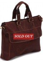 Sandrine Quenu -- Genuine Cowhide Leather Messenger Bag $109.99
