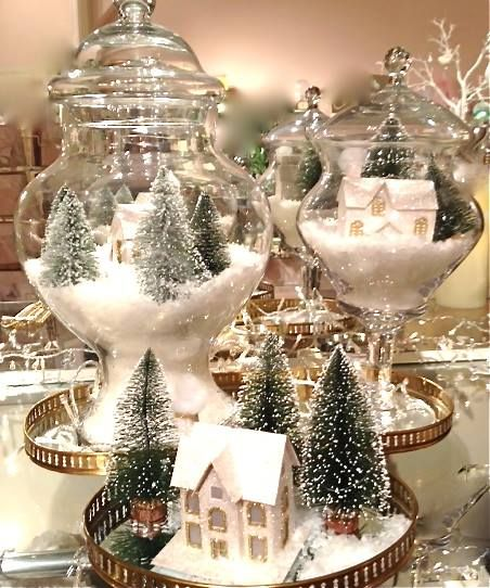 1000 Ideas About Christmas Scenes On Pinterest Christmas Poinsettia And Vintage