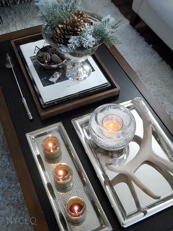 CHRISTMAS coffee table styling via #FocalPointStyling Lynda Quintero-Davids #Holiday #Decor