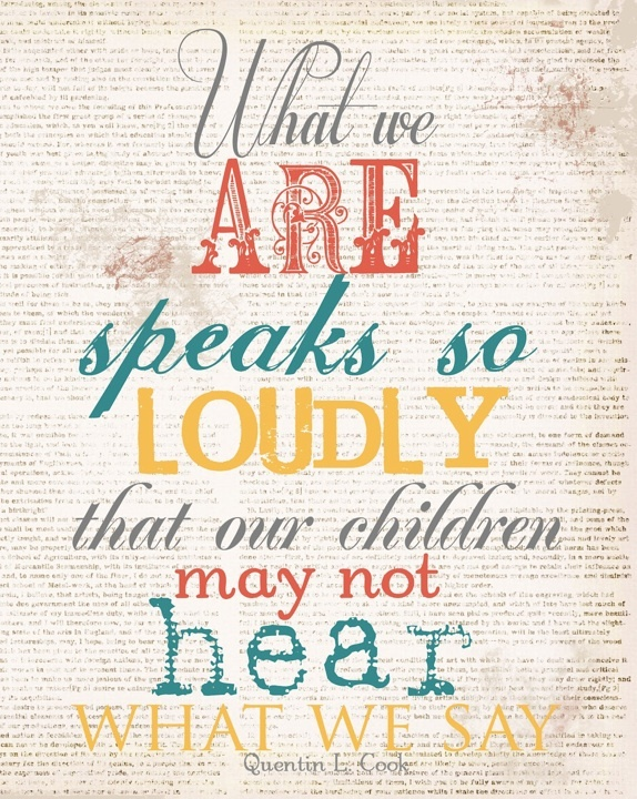 Children and teens absolutely can pick up on when what we say is not matching who we are.  BE AUTHENTIC.  They'll respect you....eventually!  LOL  ;-)
