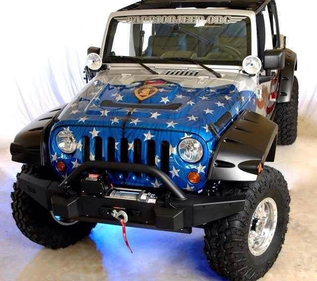 """Americana """"Red, White & Blue"""" Wounded Warriors Jeep"""