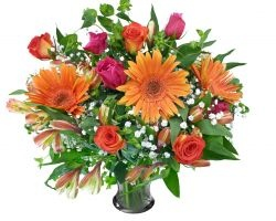 A lively and colorful #flowers# bouquet
