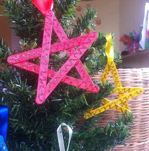 Enfeite artesanal e reciclado para Árvore de Natal                                                                                                                                                                                 Mais