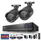 SANNCE 720P HDMI 4CH DVR 1500TVL Outdoor Day Night CCTV Security Camera System
