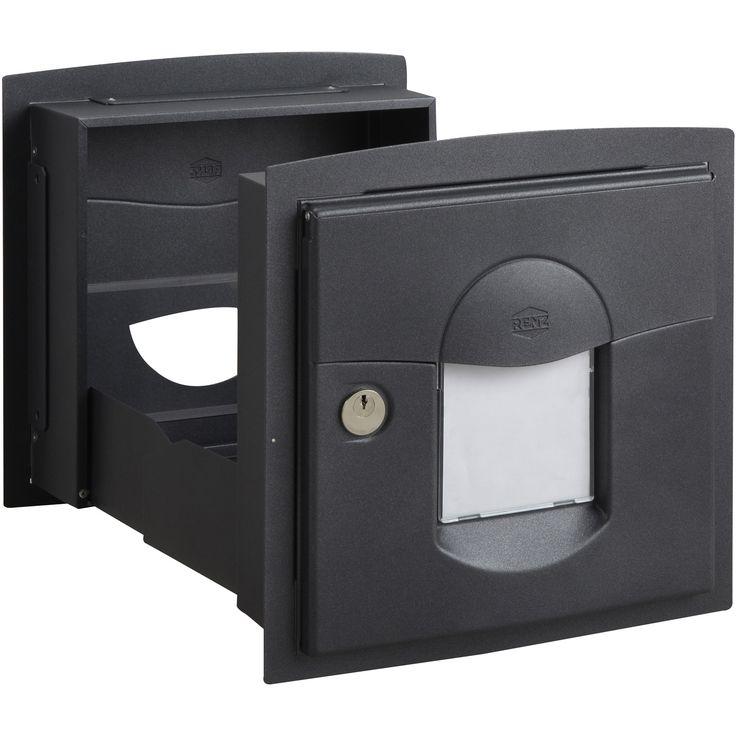 Boîte aux lettres RENZ Soléa normalisée gris anthracite en acier | Leroy Merlin