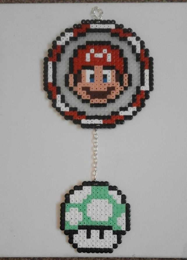 Retro Handmade Hama Dreamcatcher Super Mario Bros £10.00