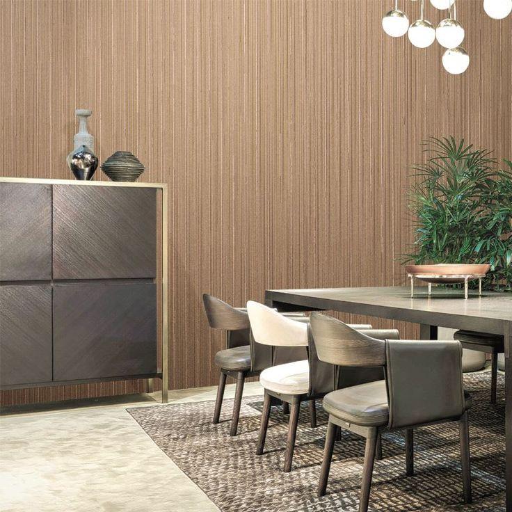 Trussardi wallpaper, for lavish decor  #wallpaper #patter #texture #dining #diningroom