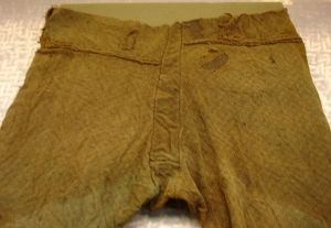 Photograph of top of   trousers - Thorsberg