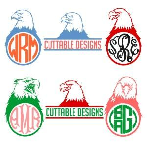 Bald Eagle Monogram Cuttable Design Cut File. Vector, Clipart, Digital Scrapbooking Download, Available in JPEG, PDF, EPS, DXF and SVG. Works with Cricut, Design Space, Sure Cuts A Lot, Make the Cut!, Inkscape, CorelDraw, Adobe Illustrator, Silhouette Cameo, Brother ScanNCut and other compatible software.