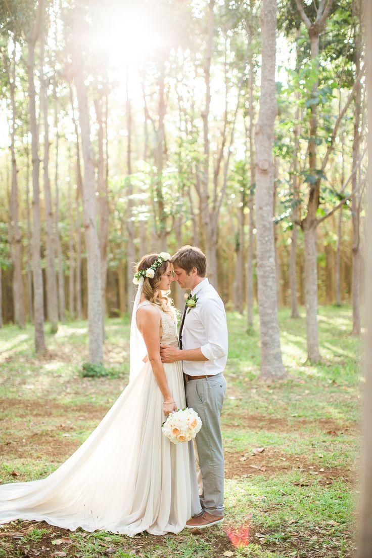 Boho Hawaii Elopement - Kauai Wedding -  photo by Sealight Studios