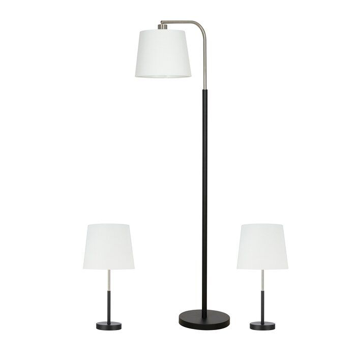Arsenault 3 Piece Floor And Table Lamp Set Lamp Sets Lamp Table Lamp Sets