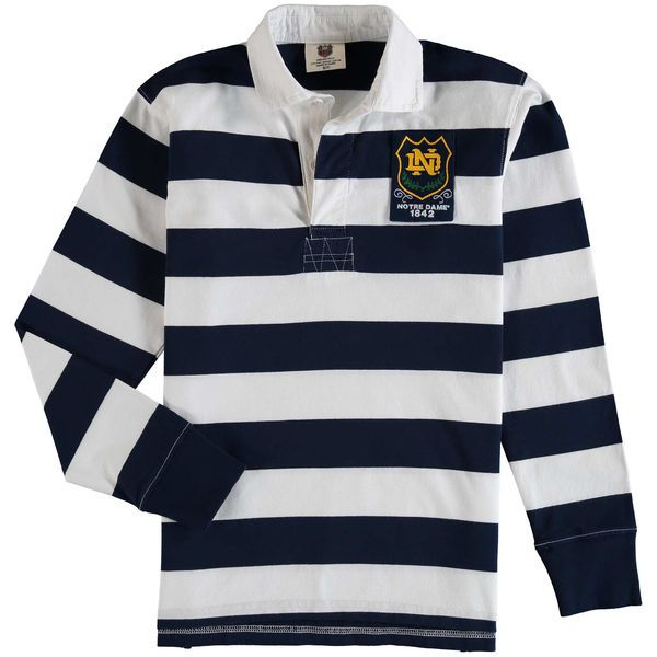 Notre Dame Fighting Irish Wes & Willy Youth Long Sleeve Rugby Polo Shirt - Navy - $39.99