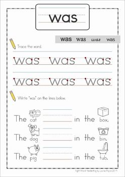 Sight Words Handwriting Book (Primer Words). A fun way to practice reading sight words in context.