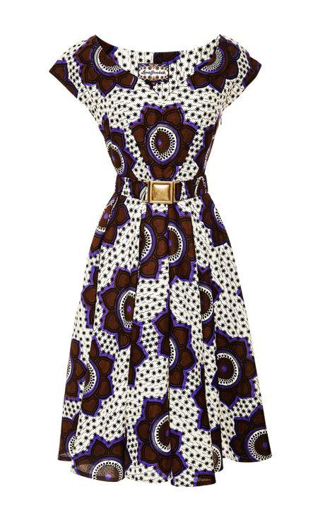 Vestido con estampado africano