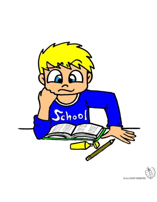 Disegno: Studente . Disegni colorati per bambini da stampare gratis. Puoi stampare, scaricare il disegno o guardare gli altri disegni simili a questo. disegnidacolorareonline.com.