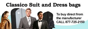 We offer variety of garment bags depending on occassions like Suit bags, Bridal bag.