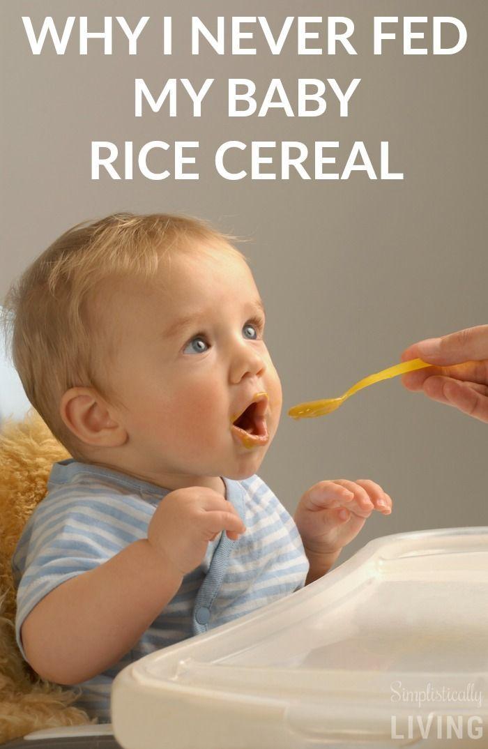 Good Reasons to Never Feed Your Baby Rice Cereal