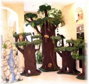 realistic cat tree for crazy cat ladies who like trees