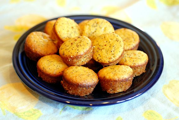 Lemon poppyseed muffins-these are so awesome. I make a triple batch and freeze them. An easy breakfast or snack. So good!