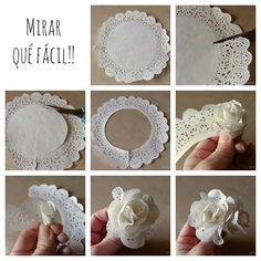 Paper doily flower