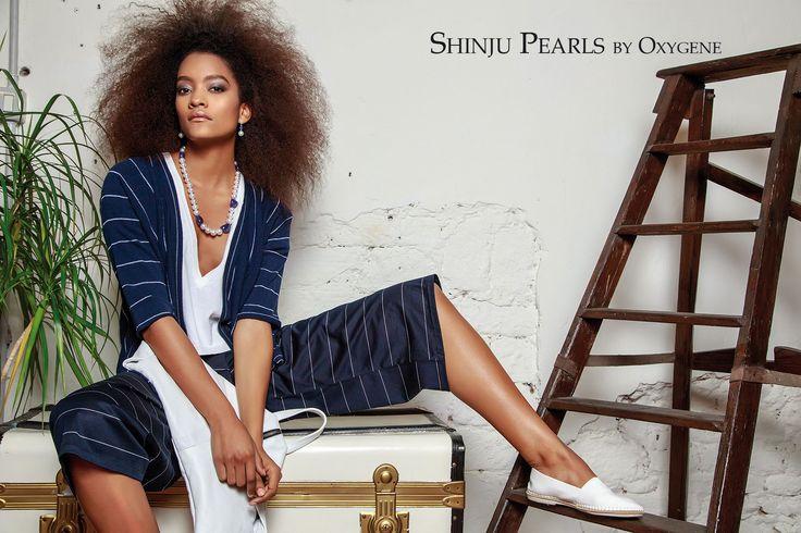 Shinju Pearls by OXYGENE www.oxygene.sm Collana in perle australiane e tanzaniti Orecchini in oro, perle australiane e tanzaniti #iosonopreziosa #preziosamagazine