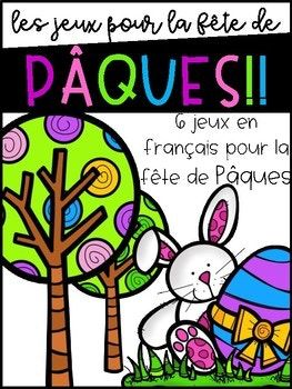 6 jeux pour la fête de Pâques!! A set of 6 easy, low prep games for Easter! Games included in this set are: -Magnified Sight Words (Students use a magnifying glass to find Easter-themed words and sight words hidden in a picture and then record them on their