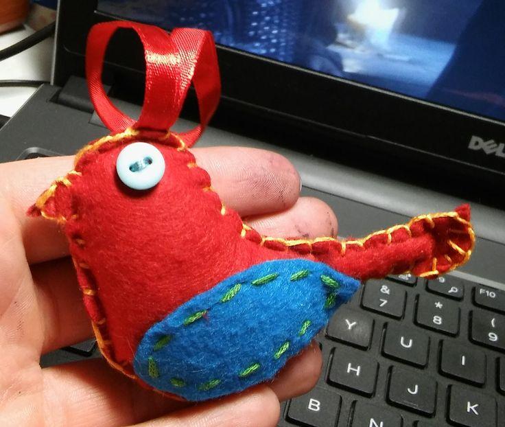 Felt bird made by me :)