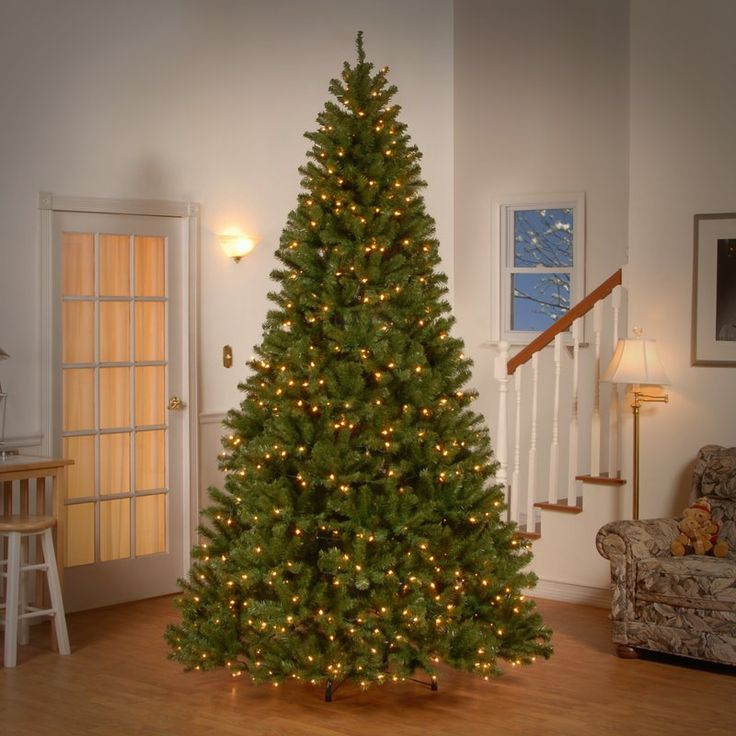 Illuminate the Christmas mood at your cozy residence by bringing home Spruce 9' Artificial Christmas Tree. With 2128 PVC (polyvinyl chloride) tips this artificial Christmas tree very adeptly creates a visual representation of a natural Spruce tree. The decoration of 700 incandescent mini light bulbs provides a bright luminous illumination inside the room, giving a glowing effect to the tree. The towering elevated height of this Christmas tree is suitable for large living room spaces...