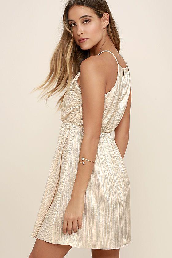 You Had Me At Halo Gold Dressat Lulus.com!