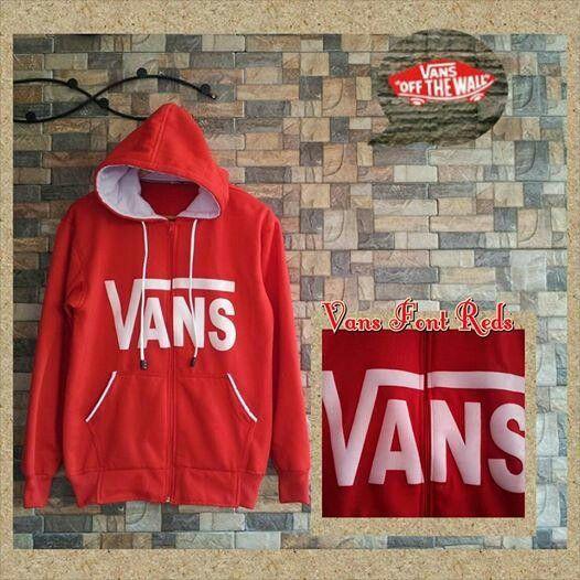 Red hoodie Vans