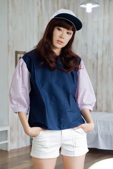 plaid sleeve blouse from Kakuu Basic. Saved to Kakuu Basic Blouses & Shirts. Shop more products from Kakuu Basic on Wanelo.
