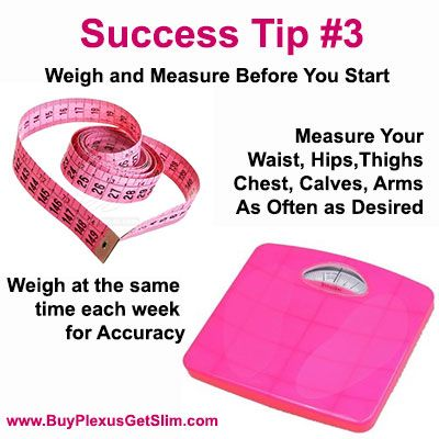 Plexus Slim Success Tip #3 Weigh and Measure before you start and again each week http://christina3.myplexusproducts.com/contact