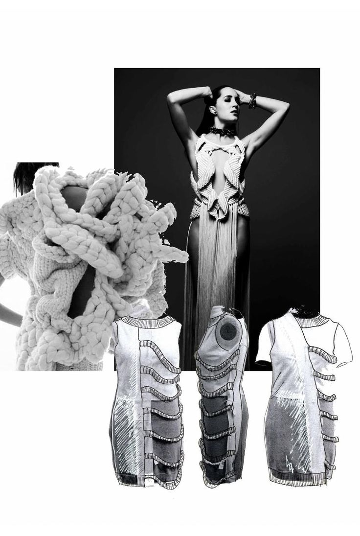 Fashion Sketchbook - knitwear design development; fashion portfolio // Heidi Kalliokoski