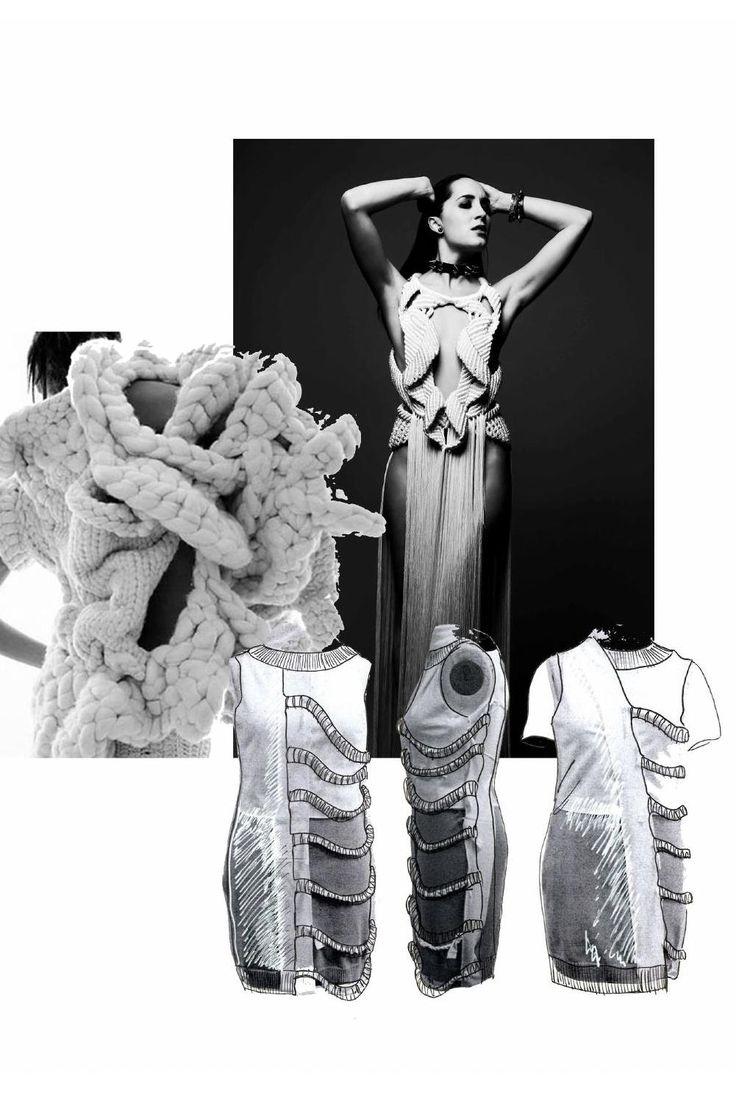 Fashion Sketchbook - knitwear design development; fashion portfolio // Heidi Kalliokoski