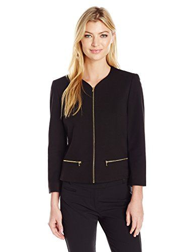 Nine West Women's Zip up Jkt, Black, 14 Nine West-$119.00