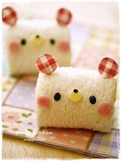日本人のごはん/パン/お弁当  Japanese meals/Bread /Bento 熊ちゃんロール bear roll sandwich