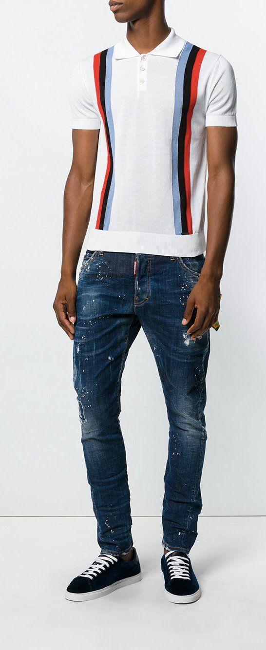 DSquared2 Striped Polo Shirt #polosshirt