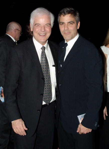 George Clooney (R) and his father Nick attend the Rosemary Clooney's Life And Career Celebrated by her family at the Beverly Hilton Hotel on December 10, 2002 in Beverly Hills, California. The gala benefits the Mayo Clinic Rosemary Clooney Pulmonary Research Fund. (Photo by Frederick M. Brown/Getty Images)