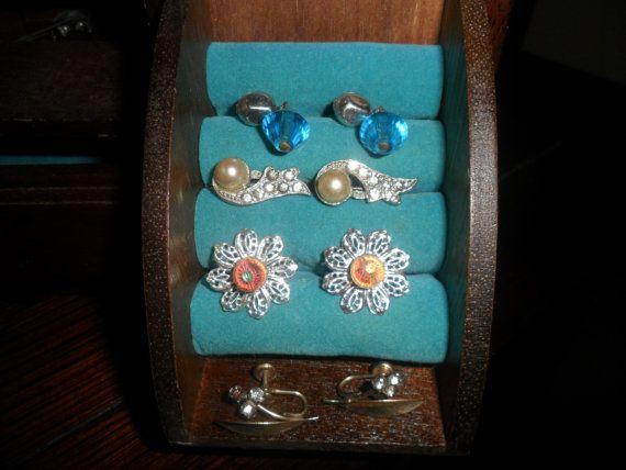 Four Pair of Vintage Costume Jewelry Earrings by PandBTreasures, $4.00