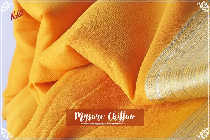 This cheerful yellow Mysore Chiffon saree, with a dazzling zari border, is perfect for a relaxing Sunday outing.Priced INR 4,852/-, visit our website or message us to buy!  #Nalli #sareesonline #onlineshopping #Mysore #chiffon #sarees #online #indian #handloom #fashion
