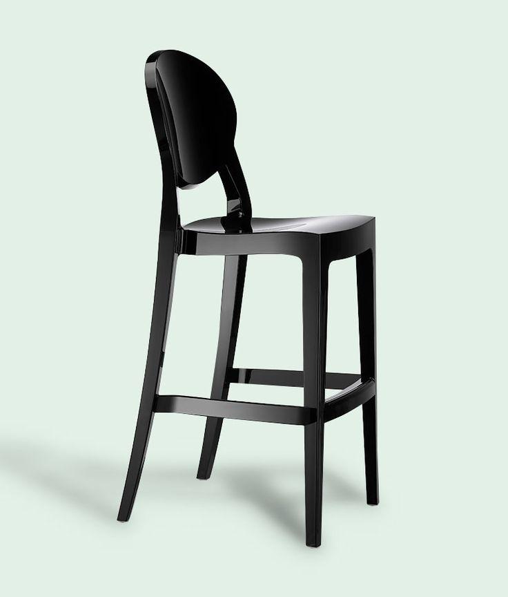 Igloo Bar Stool in Gloss Black by Impaczone