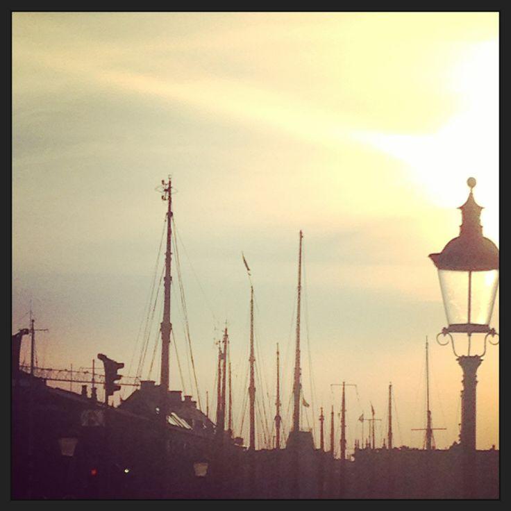 Copenhagen canal at dusk