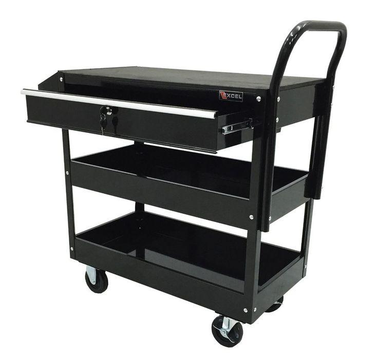 Steel Tool Cart Rolling Storage Excel Drawer Chest Mechanic Garage Shop Cabinet #Excel