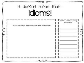 Idioms, and Why the Banana Split picture book activity