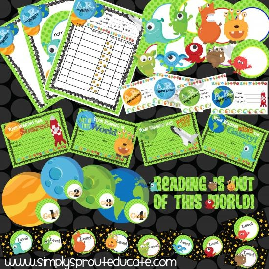 Accelerated Reader printable reading log and bulletin board classroom ideas