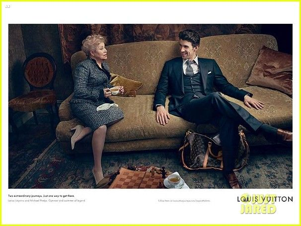 """Michael Phelps suits up for an image in his """"Core Values"""" campaign for Louis Vuitton"""