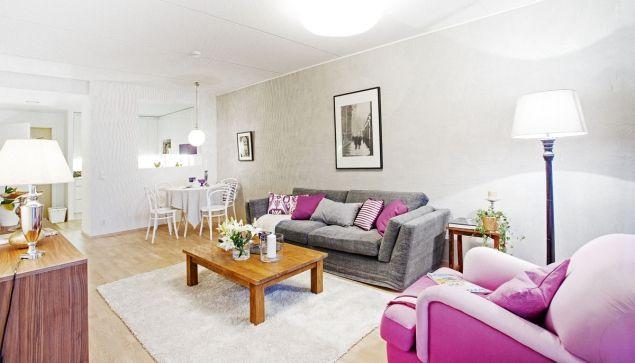 Finský interiér: růžovou proti tmě...