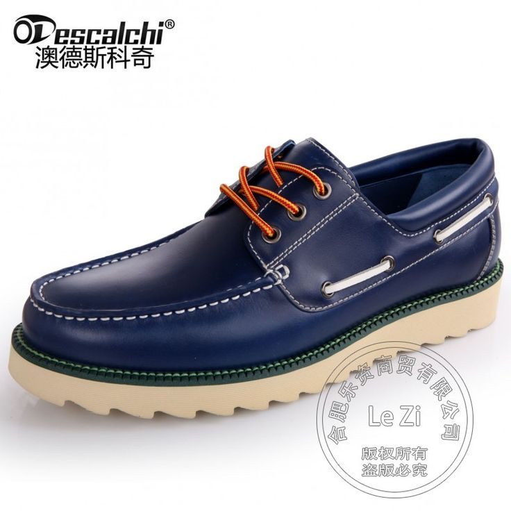 111.34$  Watch here - http://ali9yx.worldwells.pw/go.php?t=32735761232 - Deep Mouth Boat Shoes Men Shoes Leather Italian Mens Shoes Brands Cowhide Modern Heavy-bottomed Durable Thread Smooth Leather